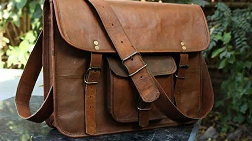 HLC Leather Unisex Real Leather Messenger Bag for Laptop Briefcase Satchel Review